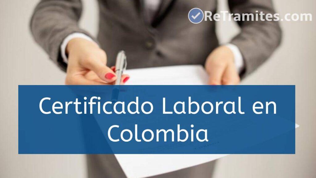 descargar certificado laboral en Colombia